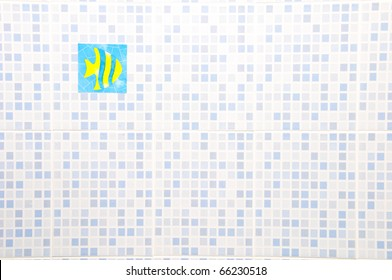 Ceramic Wall with fish sticker