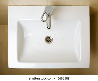 ceramic white wash sink