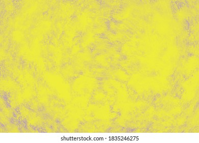 Ceramic yellow background with paint brush strokes pattern. Trendy color green sheen ceramic background