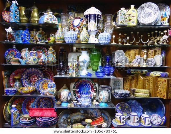 Ceramics Crafts Souq Souk Amman Jordan Stock Photo (Edit Now