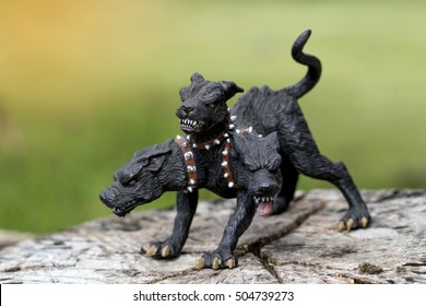 Cerberus, In Greek mythology, Cerberus , is the Hound of Hades, the monstrous multi-headed dog that guards the gates of the Underworld to prevent the dead from leaving.