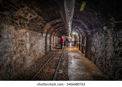 CERCS, ES - JUNE 16, 2019: Museum of the Mines of Sercs, dedicated to the coal mining and located near the colony of Sant Corneli, in Sercs, Spain.