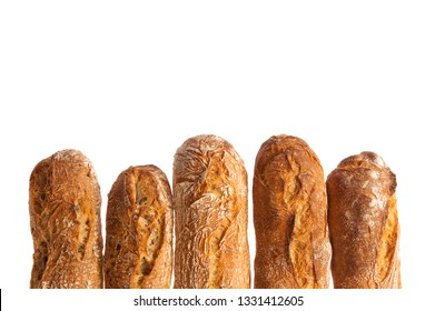 cereal baguette isolated on white background
