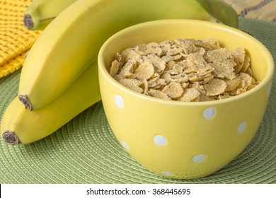 Cereal and bananas for breakfast