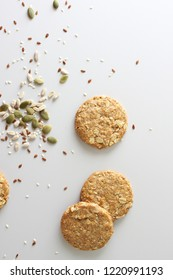 cereal cookies on a light background