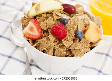 cereal with fruits, berries, nuts