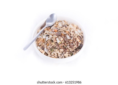 cereal isolated on white background.