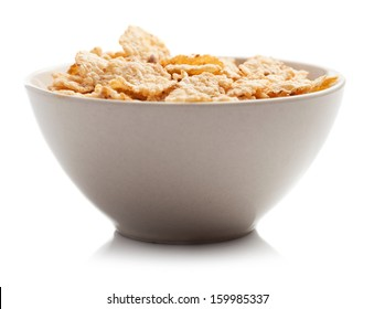 cereals bowl isolated on white background