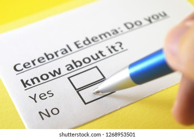 Cerebral edema: do you know about it? yes or no