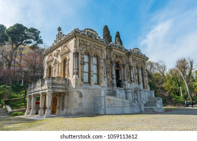 Ceremonial Kiosk of Ihlamur Pavilions. Besiktas, Istanbul, Turkey. It was built in the Ottoman period, is open to visitors as a museum today.