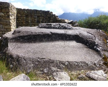 ceremonial stone of Intipunku (the gate of the sun)