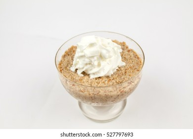 ceremonial sweet made of wheat with whipped cream