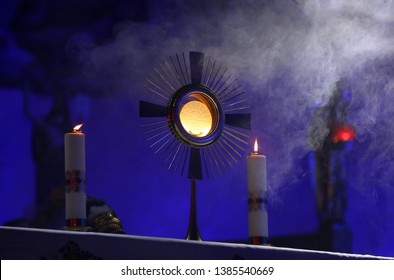 A ceremony in the church to issue the Monstrance
