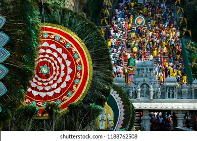ceremony of  thaipusam festival, at Batu cave, Kuala Lumpur ,Malaysia