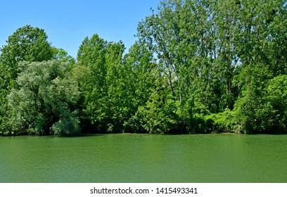 Cergy; France - june 2 2019 : Oise riverside