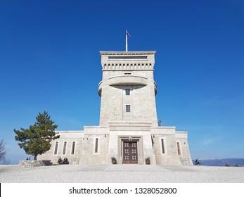 Cerje monument in Slovenia on sunny day