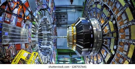 CERN the European Organization for Nuclear Research where the Higgs boson was detected in 2012 in the ATLAS and CMS experiments, conducted with the LHC accelerator