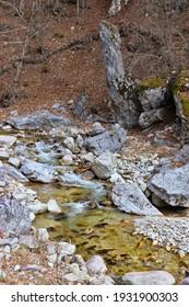 Cerna mountain valley, near Horezu town, in Valcea county, Romania - Shutterstock ID 1931900303