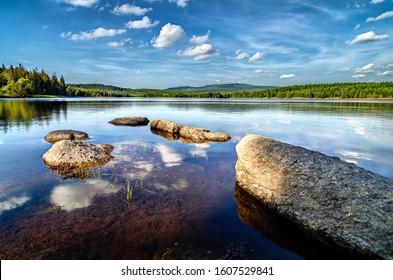 Cerna Nisa dam in Jizera Mountains, Czech Republic, the best photo. - Shutterstock ID 1607529841