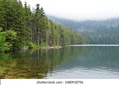 Cerne jezero in Sumava, Czech republic: Beautiful lake with crystalclear water