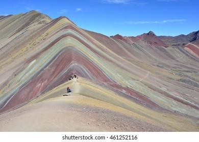 Cerro Colorado, also known as Rainbow Mountains, near to Cusco, Peru