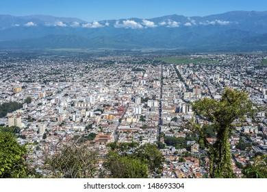 Cerro San Bernardo, located east of the city of Salta, in the homonymous province, Argentina.