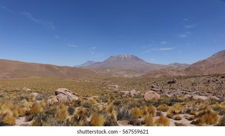 Cerro Toconce at Atacama desert in Chile