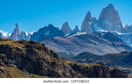 Cerro Torre and Cerro Fitz Roy in Argentinian Patagonia