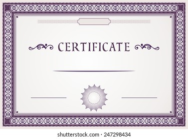 certificate border and template
