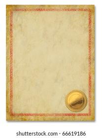 Certificate Frame Diploma Award Backgrounds Blank Ornate Document Nobody Empty blank crest