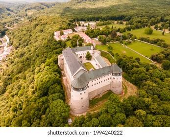 Cerveny Kamen Castle is a 13th-century castle in Slovakia. Castle with beautiful garden and park - Shutterstock ID 1994240222