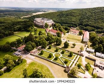 Cerveny Kamen Castle is a 13th-century castle in Slovakia. Castle with beautiful garden and park - Shutterstock ID 1994240225