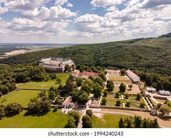 Cerveny Kamen Castle is a 13th-century castle in Slovakia. Castle with beautiful garden and park - Shutterstock ID 1994240243