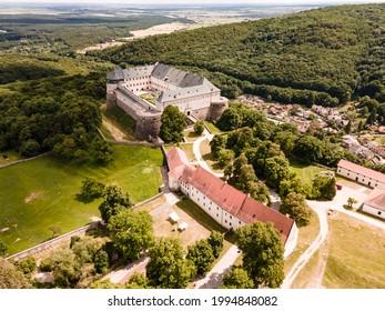 Cerveny Kamen Castle is a 13th-century castle in Slovakia. Castle with beautiful garden and park - Shutterstock ID 1994848082