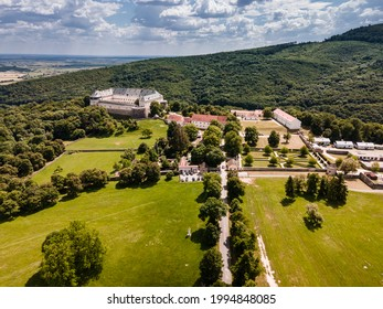 Cerveny Kamen Castle is a 13th-century castle in Slovakia. Castle with beautiful garden and park - Shutterstock ID 1994848085
