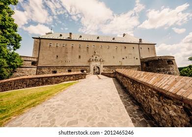 Cerveny Kamen Castle is a 13th-century castle in Slovakia. Castle with beautiful garden and park - Shutterstock ID 2012465246