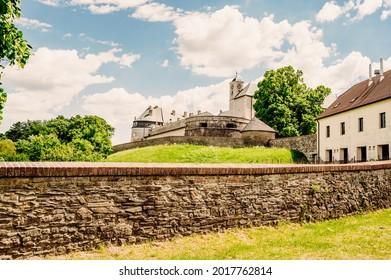 Cerveny Kamen Castle is a 13th-century castle in Slovakia. Castle with beautiful garden and park - Shutterstock ID 2017762814
