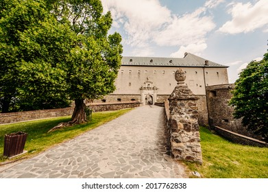 Cerveny Kamen Castle is a 13th-century castle in Slovakia. Castle with beautiful garden and park - Shutterstock ID 2017762838