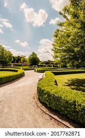 Cerveny Kamen Castle is a 13th-century castle in Slovakia. Castle with beautiful garden and park - Shutterstock ID 2017762871