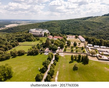 Cerveny Kamen Castle is a 13th-century castle in Slovakia. Castle with beautiful garden and park - Shutterstock ID 2017763336