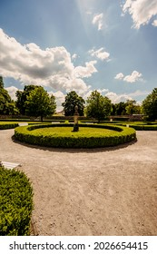Cerveny Kamen Castle is a 13th-century castle in Slovakia. Castle with beautiful garden and park - Shutterstock ID 2026654415