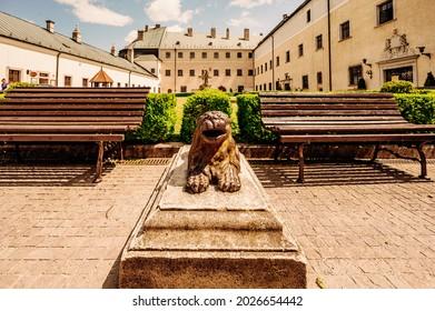 Cerveny Kamen Castle is a 13th-century castle in Slovakia. Castle with beautiful garden and park - Shutterstock ID 2026654442