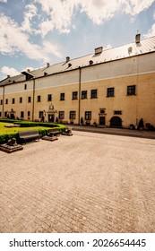 Cerveny Kamen Castle is a 13th-century castle in Slovakia. Castle with beautiful garden and park - Shutterstock ID 2026654445