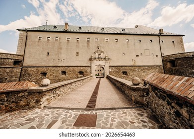 Cerveny Kamen Castle is a 13th-century castle in Slovakia. Castle with beautiful garden and park - Shutterstock ID 2026654463