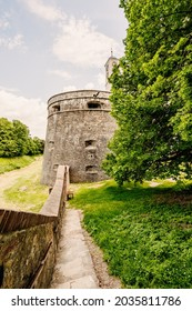 Cerveny Kamen Castle is a 13th-century castle in Slovakia. Castle with beautiful garden and park - Shutterstock ID 2035811786