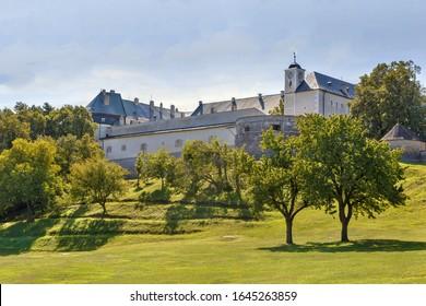 Cerveny Kamen Castle is a 13th-century castle in southwestern Slovakia.  - Shutterstock ID 1645263859