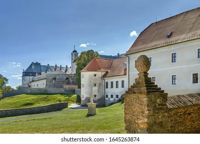 Cerveny Kamen Castle is a 13th-century castle in southwestern Slovakia.  - Shutterstock ID 1645263874