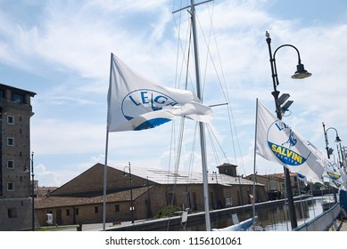 Cervia, Italy - August 04, 2018 : 'Lega Nord' congress location in Cervia
