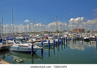 CERVIA, ITALY- AUGUST 25, 2016: sailing boats in the harbor.