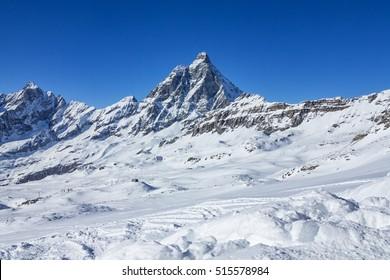 Cervinia ( Italy ) ski slopes